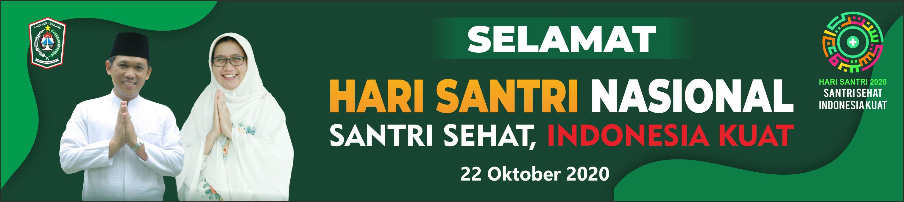 """HARI SANTRI NASIONAL 2020 """"SANTRI SEHAT, INDONESIA KUAT"""""""
